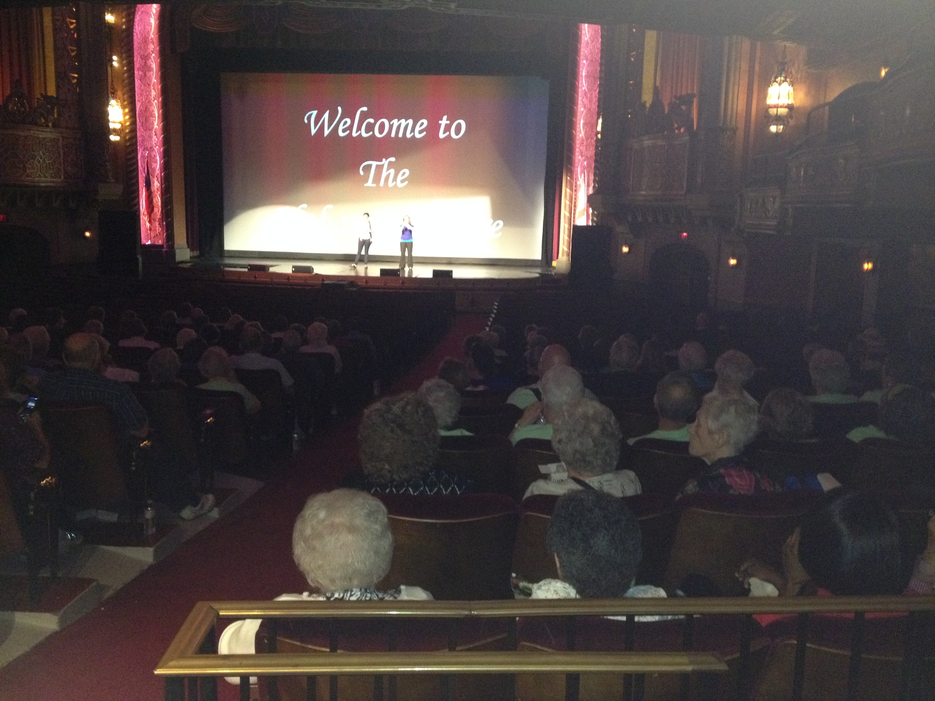 Image from inside the Alabama Theatre